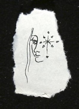 Untitled (Face with starburst), Illustration 42 in the book Sketchbook (Europe, Balle