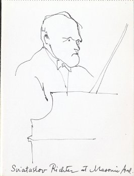 Sviataslov Richter at Masonic Auditorium, Illustration 1 in the book Sketchbook (Music)