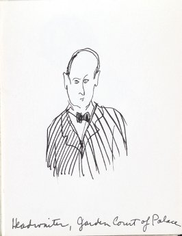Head Waiter, Garden Court of Palace, Illustration 5 in the book Sketchbook (Music)