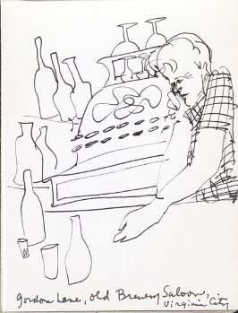 Gordon Lane, Old Brewery Saloon, Virginia City, Illustration 8 in the book Sketchbook (Music)