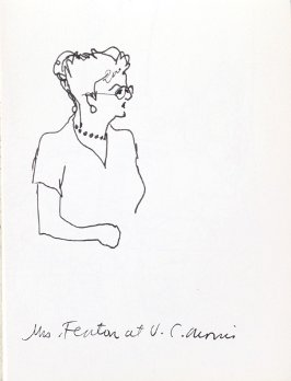 Mrs. Fenton at V. C. Morris, Illustration 13 in the book Sketchbook (Music)