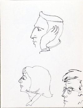 Untitled (Heads), Illustration 15 in the book Sketchbook (Music)