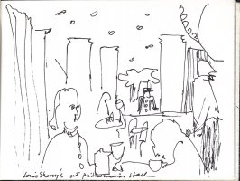 Louis Sherry's at Philharmonic Hall, Illustration 20 in the book Sketchbook (Music)