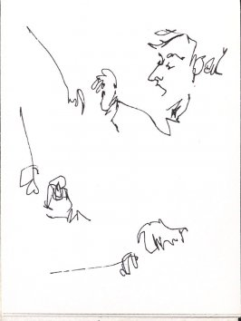 Untitled (Leonard Bernstein), Illustration 22 in the book Sketchbook (Music)