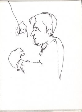 Untitled (Leonard Bernstein), Illustration 23 in the book Sketchbook (Music)