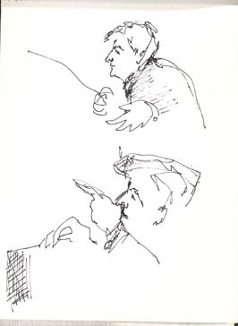 Untitled (Leonard Bernstein), Illustration 25 in the book Sketchbook (Music)