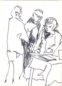 Untitled (Conversation), Illustration 9 in the book Sketchbook (Stern Grove)