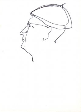 Untitled (Profile), Illustration 11 in the book Sketchbook (Stern Grove)