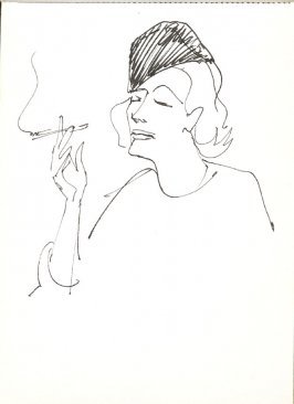 Untitled (Woman smoking), Illustration 13 in the book Sketchbook (Stern Grove)