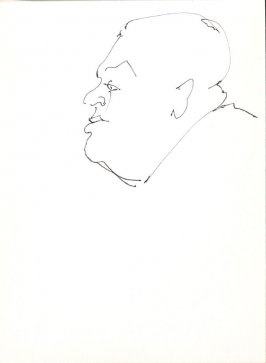Untitled (Man's profile), Illustration 14 in the book Sketchbook (Stern Grove)