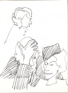 Untitled (Heads), Illustration 17 in the book Sketchbook (Stern Grove)