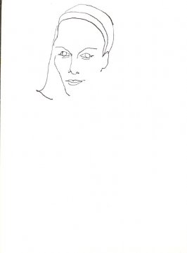 Untitled (Woman), Illustration 20 in the book Sketchbook (Stern Grove)