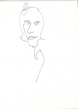 Untitled (Woman), Illustration 21 in the book Sketchbook (Stern Grove)