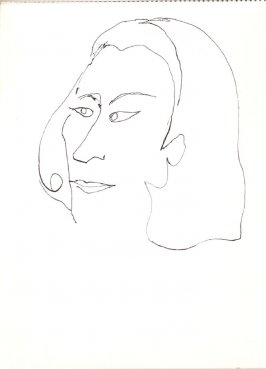 Untitled (Woman), Illustration 23 in the book Sketchbook (Stern Grove)