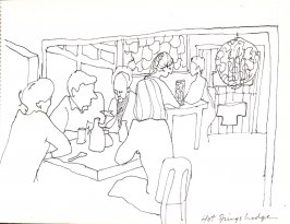 Hot Springs Lodge, Illustration 27 in the book Sketchbook (Stern Grove)