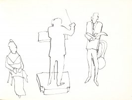 Untitled (Conductor and musicians), Illustration 30 in the book Sketchbook (Stern Grove)