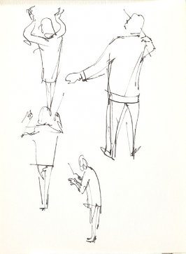 Untitled (Conductor), Illustration 31 in the book Sketchbook (Stern Grove)