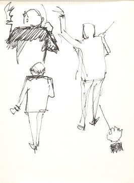 Untitled (Conductor), Illustration 32 in the book Sketchbook (Stern Grove)