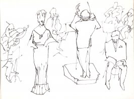 Untitled (Orchestra), Illustration 33 in the book Sketchbook (Stern Grove)