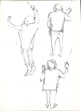 Untitled (Conductor), Illustration 34 in the book Sketchbook (Stern Grove)