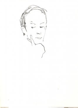 Untitled (Head), Illustration 40 in the book Sketchbook (Stern Grove)