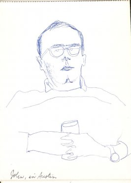 John in Austin, Illustration 50 in the book Sketchbook (Stern Grove)