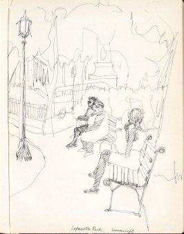 Lafayette Park, Illustration 1 in the book Sketchbook (Washington and New York)