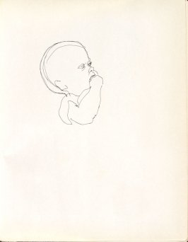 Untitled (baby), Illustration 9 in the book Sketchbook (Washington and New York)
