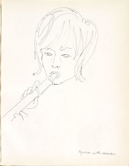 Janine With Recorder, Illustration 8 in the book Sketchbook (Washington and New York)