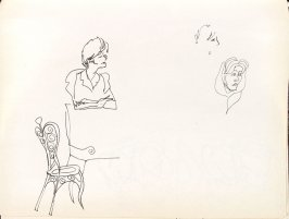 Untitled (Three faces), Illustration 16 in the book Sketchbook (Washington and New York)