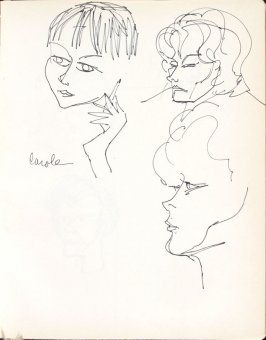 Carole, Illustration 18 in the book Sketchbook (Washington and New York)