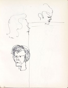 Untitled (Heads), Illustration 19 in the book Sketchbook (Washington and New York)