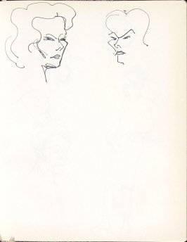 Untitled (Heads), Illustration 20 in the book Sketchbook (Washington and New York)
