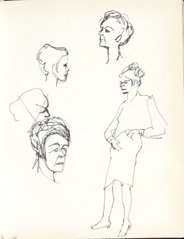 Untitled (Heads and Figure), Illustration 21 in the book Sketchbook (Washington and New York)