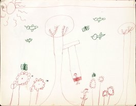 Untitled (Child's drawing), Illustration 30 in the book Sketchbook (Washington and New York)