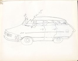 Untitled (Station wagon), Illustration 35 in the book Sketchbook (Washington and New York)