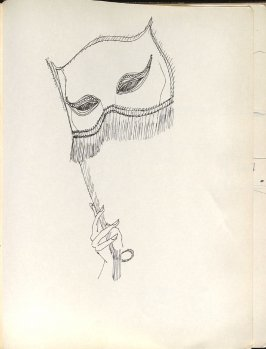 Untitled (Mask), Illustration 39 in the book Sketchbook (Washington and New York)