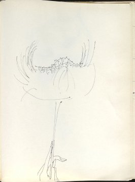 Untitled (Mask), Illustration 40 in the book Sketchbook (Washington and New York)