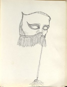 Untitled (Mask), Illustration 42 in the book Sketchbook (Washington and New York)