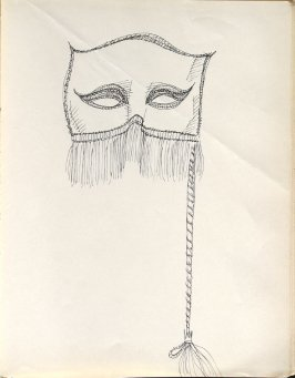 Untitled (Mask), Illustration 44 in the book Sketchbook (Washington and New York)