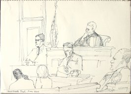 Civil Rights Trial, May 1964, Illustration 1 in the book Sketchbook (San Francisco)