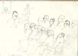 Alan Wath and the Jury, Illustration 21 in the book Sketchbook (San Francisco)