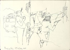 Virginia City, 4th of July, Illustration 1 in the book Sketchbook (San Francisco)