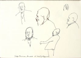 Judge Thurman Arnold at Court of Appeals, Illustration 12 in the book Sketchbook (San Francisco)
