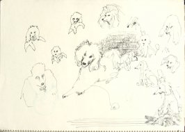 Untitled (Dogs), Illustration 14 in the book Sketchbook (San Francisco)