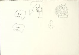 Untitled (Dogs), Illustration 16 in the book Sketchbook (San Francisco)