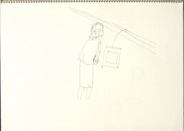 Untitled (Woman), Illustration 17 in the book Sketchbook (San Francisco)