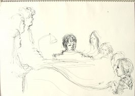 Untitled (Choir), Illustration 19 in the book Sketchbook (Synanon Street Scene)
