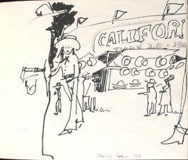 Salinas Rodeo, Illustration 16 in the book Sketchbook (Denver and Salinas)