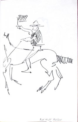 Red Bluff Rodeo, Illustration 1 in the book Sketchbook (Honeymoon)